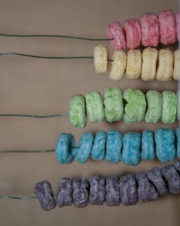Preschool Math Activities: Craft a Cereal Abacus