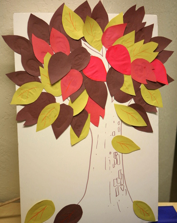 Kindergarten Reading & Writing Activities: Create an Autumn Tree of Resolutions