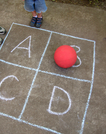 First Grade Offline games Activities: Play Four Square!