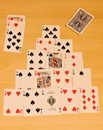 Third Grade Math Activities: Pyramid Math Card Game