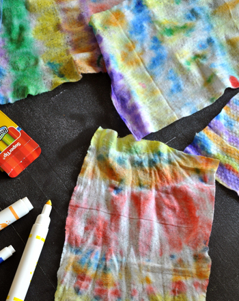 Preschool Arts & Crafts Activities: Make Tie-Dye Baby Wipes
