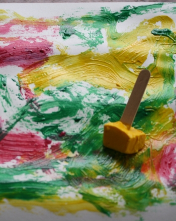 Preschool Holidays & Seasons Activities: Paint with Ice
