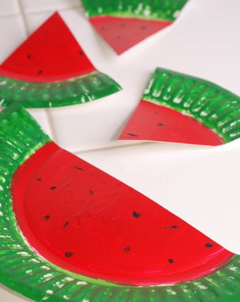 Preschool Holidays & Seasons Activities: Watermelon Paper Plates