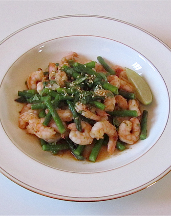 High School Recipes Activities: Shrimp and Asparagus