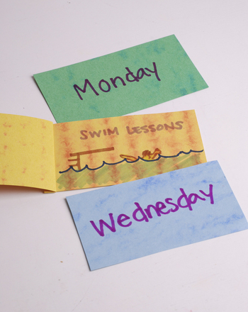 Preschool Reading & Writing Activities: Make Days of the Week Flip Flaps