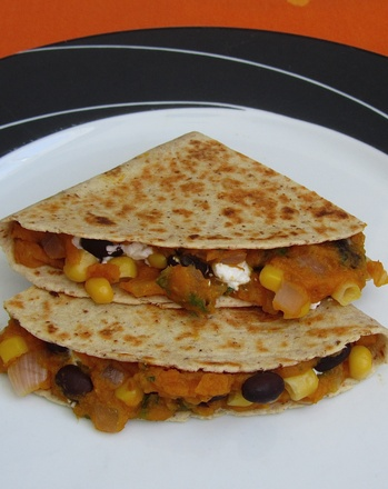 First Grade Holidays & Seasons Activities: Pumpkin, Corn and Black Bean Quesadillas
