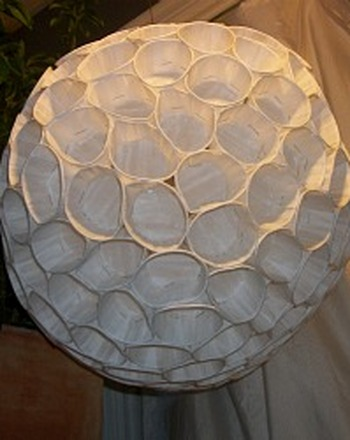 Middle School Arts & Crafts Activities: Make a Recycled Paper Cup Globe Lamp