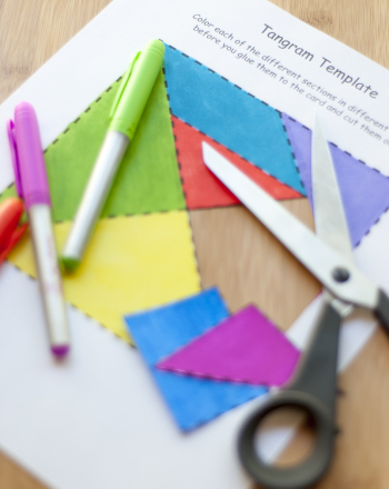 Second Grade Math Activities: How to Make a Tangram