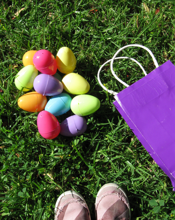 Kindergarten Math Activities: Easter Egg Race