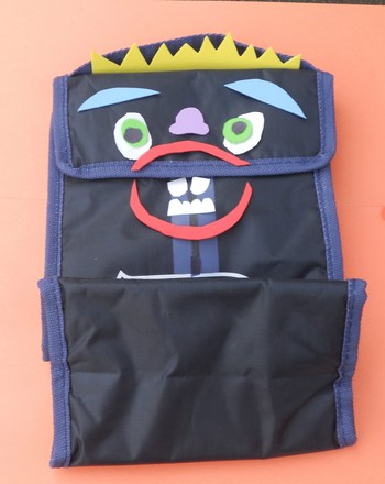 Second Grade Arts & crafts Activities: Lunchbag Monster