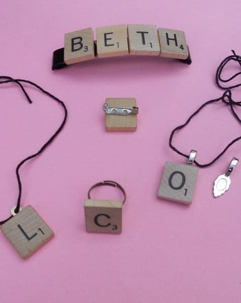 Fourth Grade Arts & crafts Activities: Scrabble Jewelry