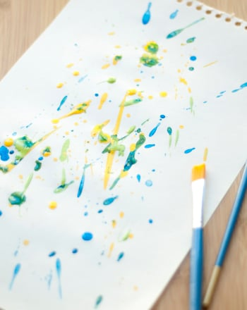 Preschool Reading & Writing Activities: Paint Like Jackson Pollock!
