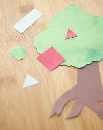 Preschool Math Activities: Play Shape Tree Match-Up