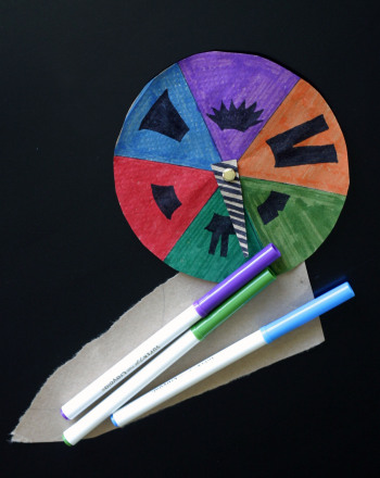 Third Grade Arts & Crafts Activities: Fashion Craft: Spin the Wheel Designer