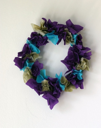 Preschool Arts & Crafts Activities: Mardi Gras Wreath