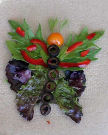 First Grade Recipes Activities: Salad Butterfly
