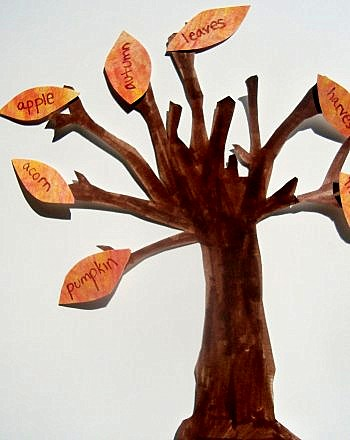 Second Grade Holidays & Seasons Activities: Fall Words Reading Tree
