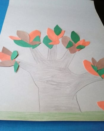 First Grade Arts & crafts Activities: Hand Tree
