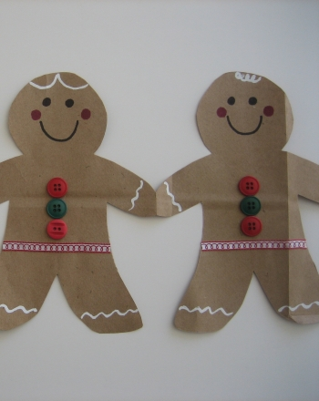Kindergarten Holidays Activities: Create a Gingerbread Man Paper Chain