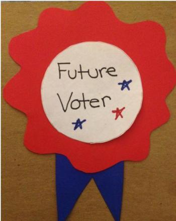 Kindergarten Arts & crafts Activities: Voting Buttons
