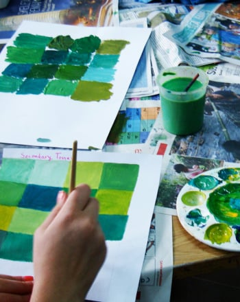 Middle School Arts & Crafts Activities: Mix Monochromatic Colors!