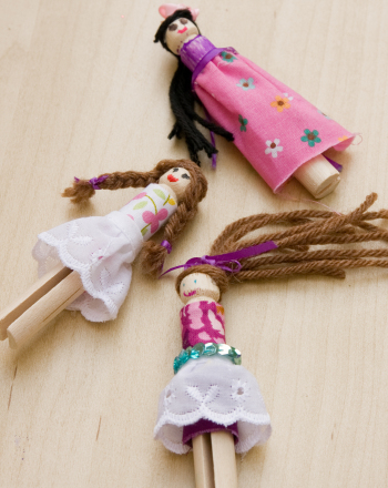 Preschool Arts & Crafts Activities: Craft Cute Clothespin Dolls