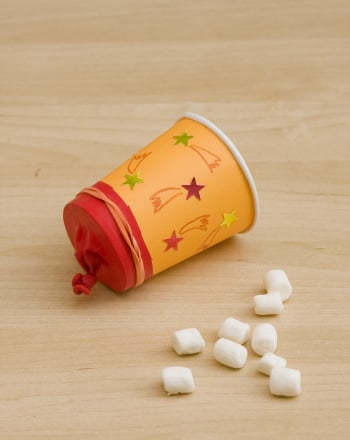 Kindergarten Arts & Crafts Activities: Mini-Marshmallow Popper
