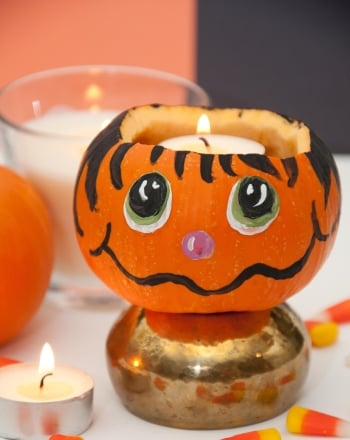 Second Grade Arts & crafts Activities: Pumpkin Candle Holder