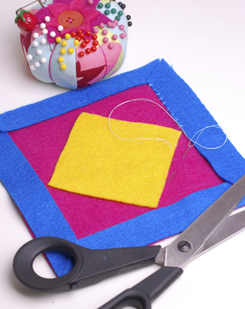 Fourth Grade Arts & Crafts Activities: Sew a Colorful Amish Potholder