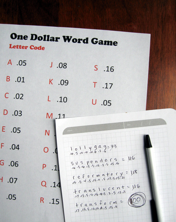 Third Grade Holidays & Seasons Activities: Count Up to a One Dollar Word