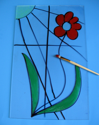 Third Grade Arts & Crafts Activities: Reverse Glass Painting