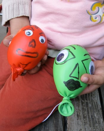 Preschool Arts & Crafts Activities: Monster Balloons