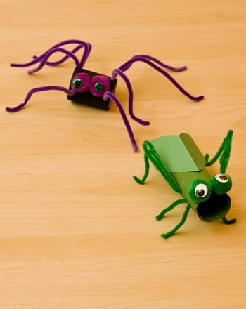 kindergarten activity cardboard bugs - Halloween Art For Kindergarten