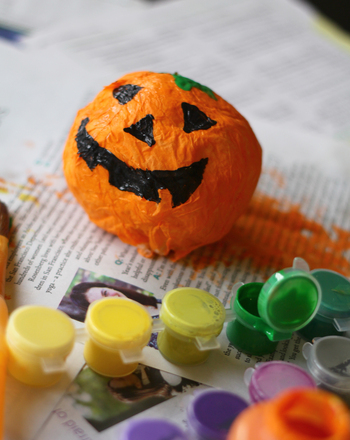 Kindergarten Holidays & Seasons Activities: Make a Papier-Mâché Jack-o'-Lantern!