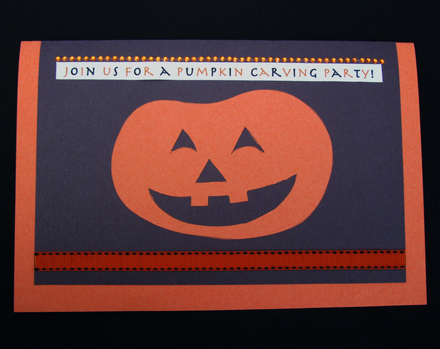 Kindergarten Holidays & Seasons Activities: Pumpkin Carving Party Invitations