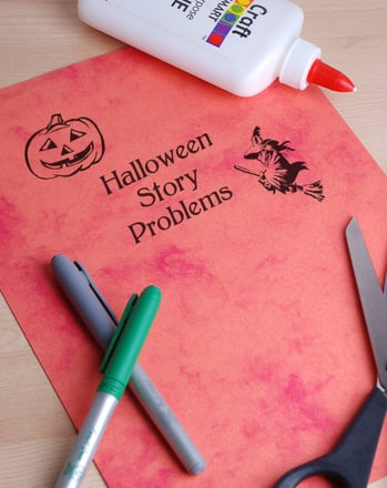 Kindergarten Math Activities: Halloween Story Problems