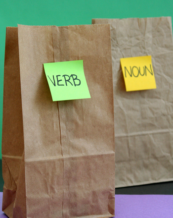 Third Grade Reading & Writing Activities: Play the Bag Game: Learn Parts of Speech