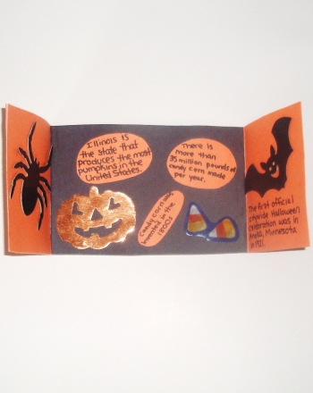 First Grade Holidays & Seasons Activities: Halloween Fun Facts Foldable