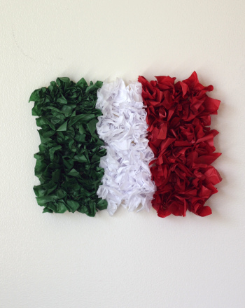 Kindergarten Holidays & Seasons Activities: Create a Tissue Paper Mexican Flag