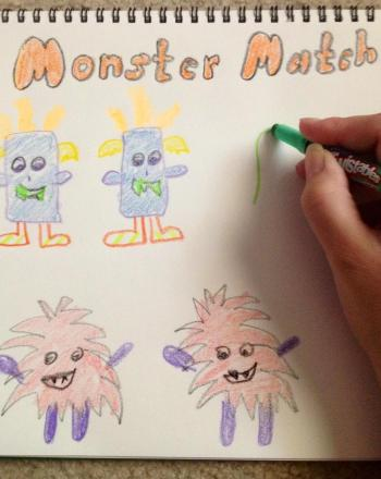 First Grade Arts & crafts Activities: Monster Matching