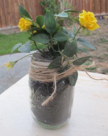 Second Grade Arts & Crafts Activities: Mason Jar Planter