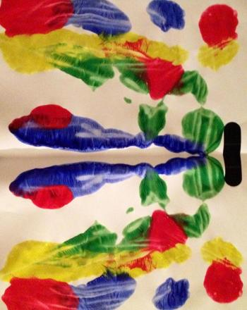 Kindergarten Arts & Crafts Activities: Paint Blots