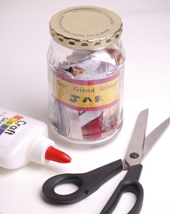 Second Grade Arts & crafts Activities: Create a Best Friend Collage Jar!