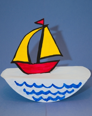 First Grade Arts & crafts Activities: Paper Sailboat