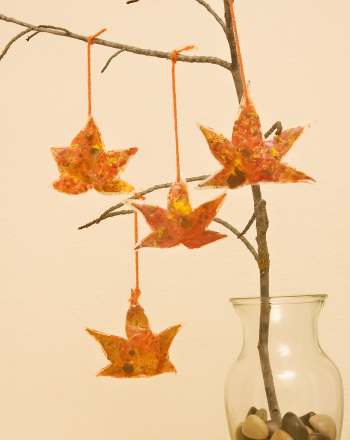 Kindergarten Holidays & Seasons Activities: Stained Glass Leaves