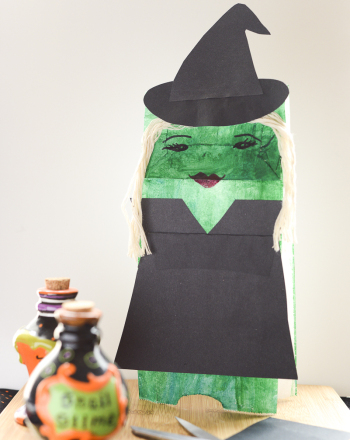 Kindergarten Holidays Activities: Halloween Witch Hand Puppet