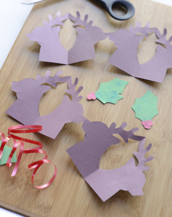 First Grade Holidays Activities: Reindeer Decorations