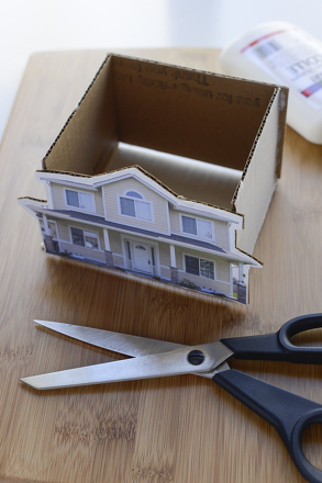 Fifth Grade Arts & Crafts Activities: House-Shaped Gift Box