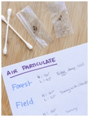 Is there more air particulate matter in an urban or rural environment? Test your knowledge with this science fair project.