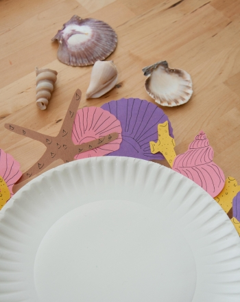 First Grade Arts & Crafts Activities: Seashell Plate